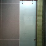 Back Painted Glass Shower Door