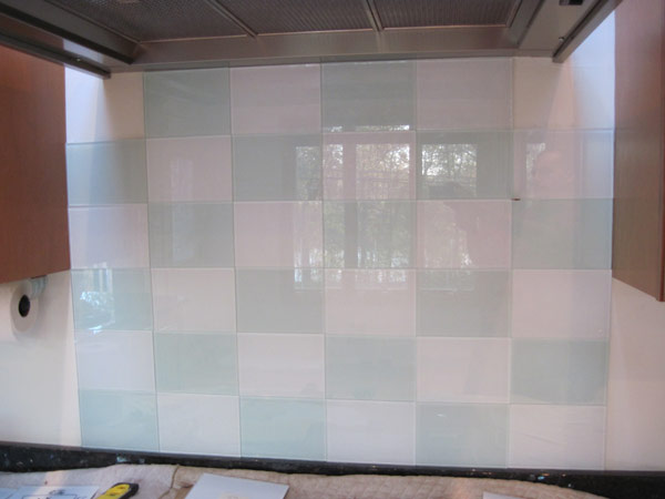 Back painted glass mineola glass mirror for Back painted glass tile